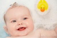 baby in bath tub--baby's sensitive skin