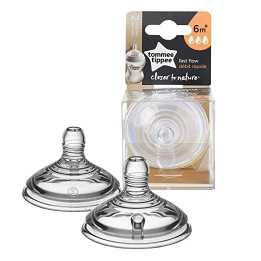 Tommee Tippee Fast Flow Teats 6+ Months – 2 Count