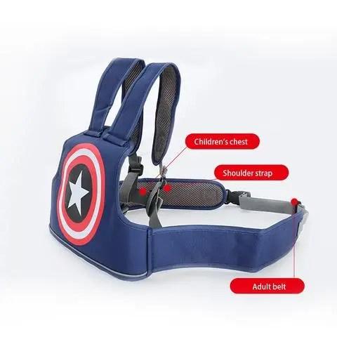Motorcycle Seat Safety Belt Children Captain America