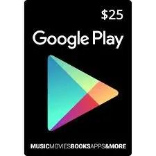 Google Play Gift Code $25 US