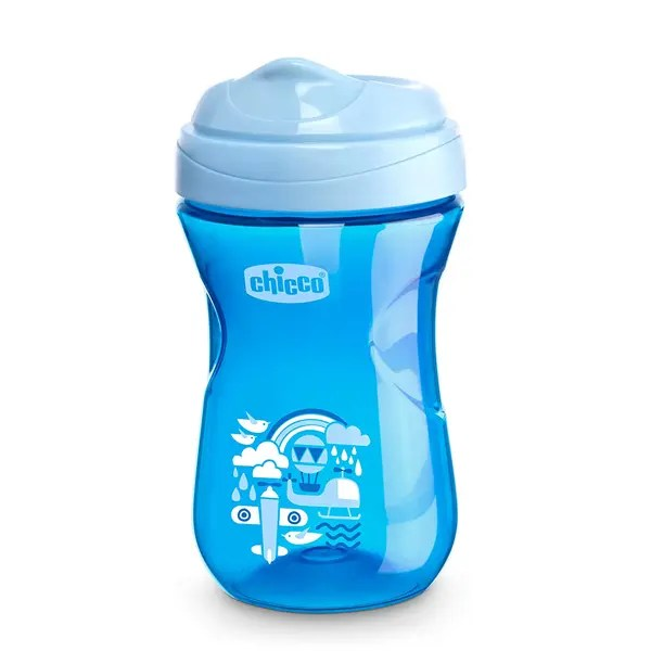 Chicco Rim Spout Trainer Sippy Cup, 9 Months+, Blue, 9 Ounce