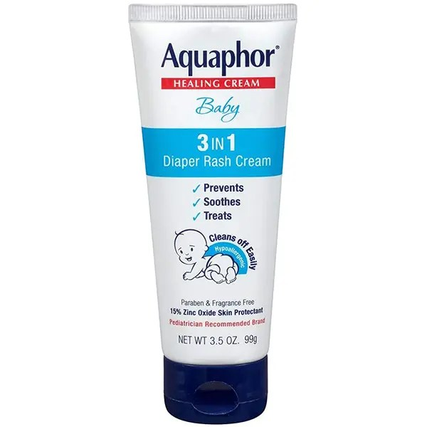 Aquaphor Baby Healing Cream 3 in 1 Diaper Rash 3.5 Ounce