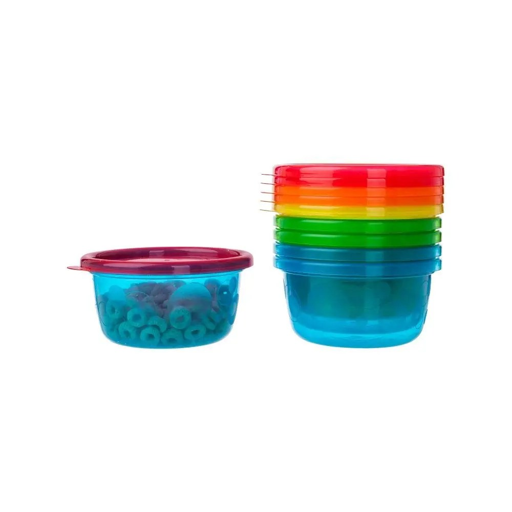 Take & Toss Toddler Bowls with Lids – 8oz, 6 pack