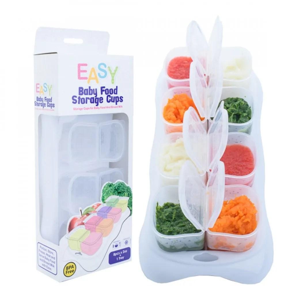 Autumnz EASY Breastmilk & Baby Food Storage Cups (2oz) – WHITE
