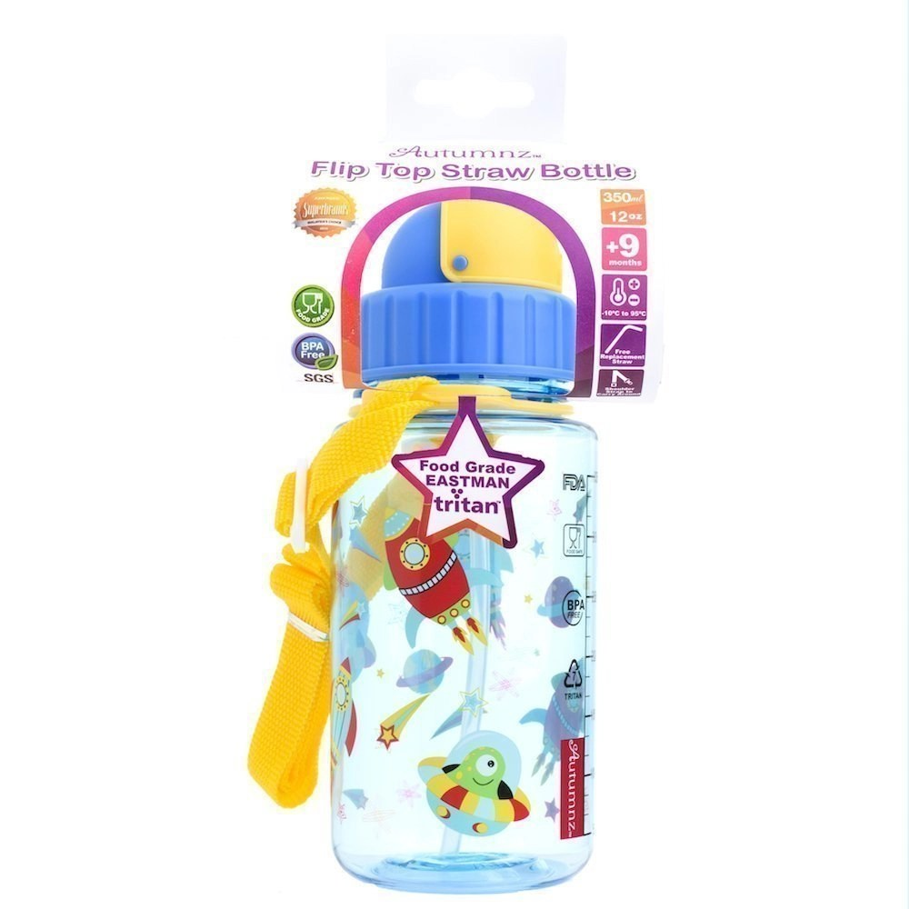 Autumnz – Flip Top Straw Bottle 350ml /12oz *Outer Space*