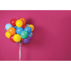 Bright Balloons Pink Cake Smash Backdrop