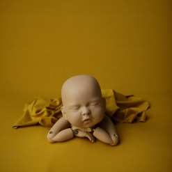 Yellow Newborn Photography Fabric