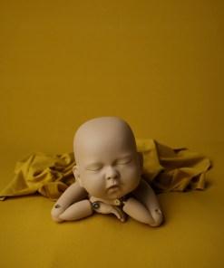 Yellow Newborn Photography Fabric