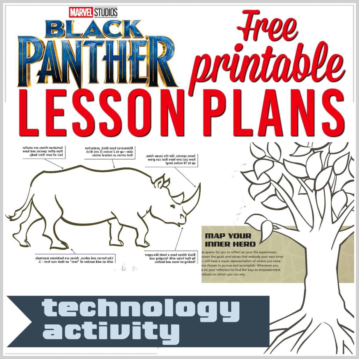 Superhero Lesson Plans Free Printable Black Panther