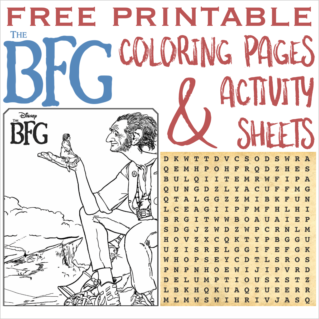 The Bfg Printable Coloring Pages And Activity Sheets