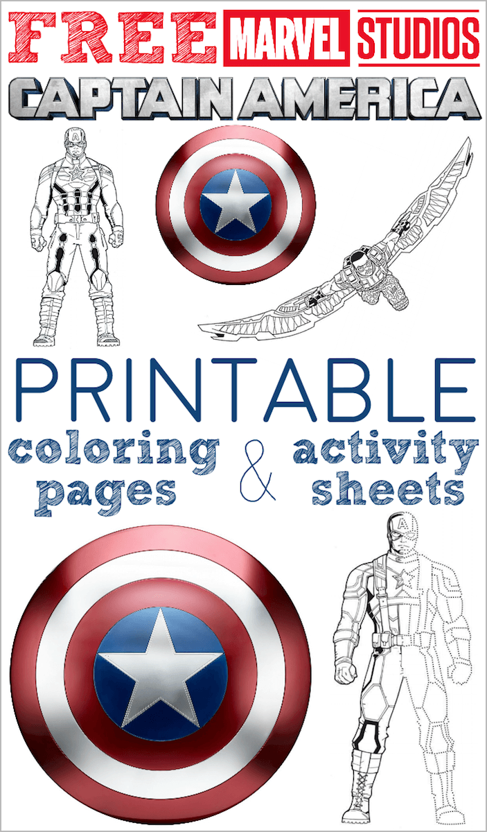 Free Printable Captain America Coloring Pages And Activity