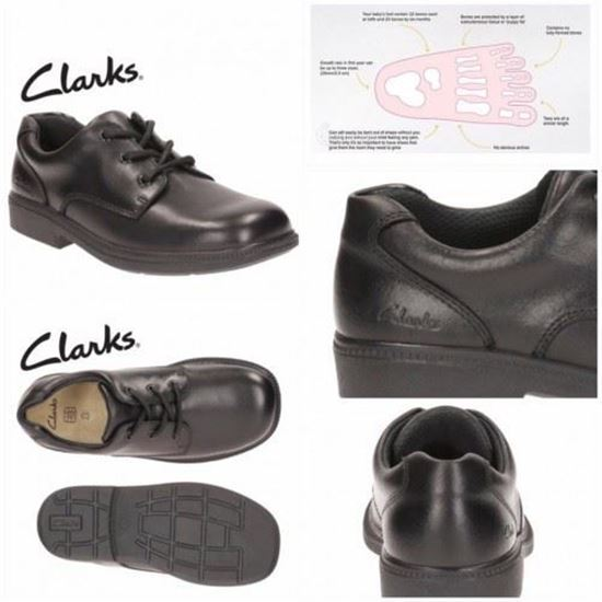 BabyShopHK. **SOLD OUT**開倉 : Clarks 童裝鞋帶款返學鞋