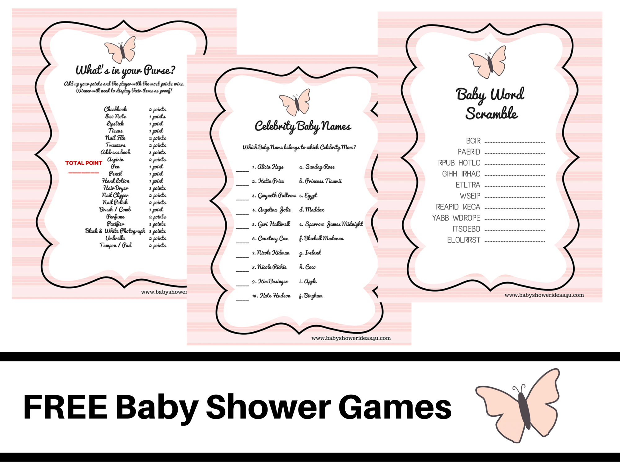 Butterfly Theme Baby Shower Free Printable Baby Shower