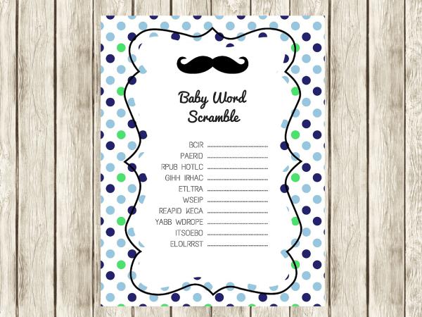 FREE Mustache Baby Shower Games Baby Shower Ideas