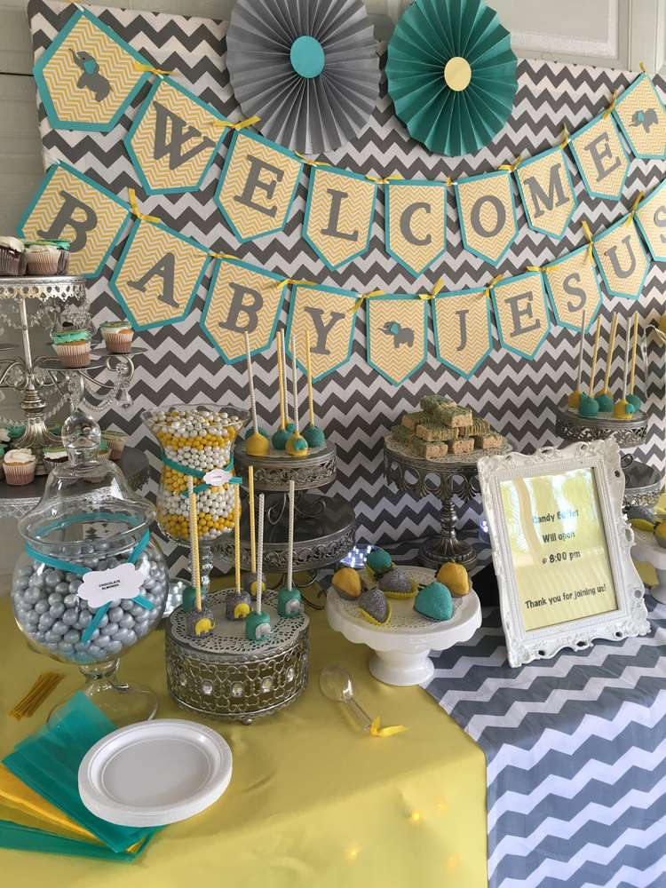Elephant Themed Baby Shower Ideas