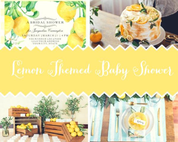 Food Yellow Baby Shower