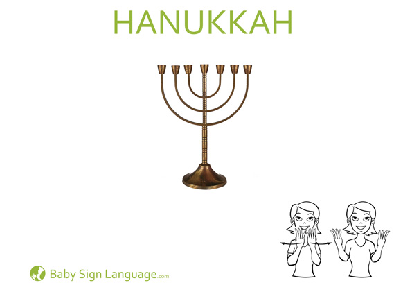 Hanukkah Baby Sign Language Flash Card