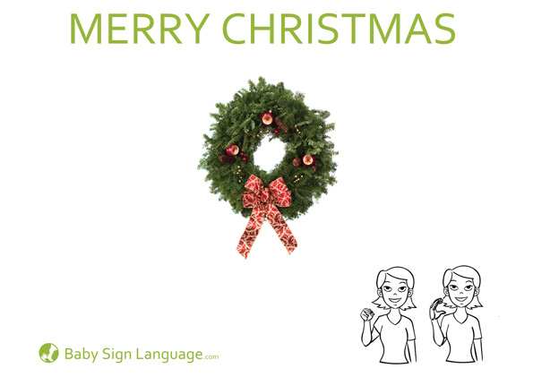 Merry Christmas Baby Sign Language Flash Card