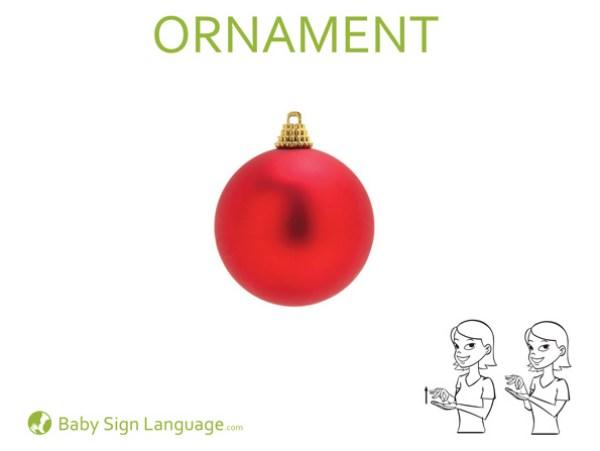 Ornament Baby Sign Language Flash Card