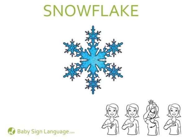 Snowflake Baby Sign Language Flash Card