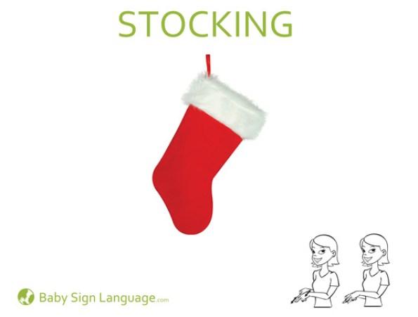 Stocking Baby Sign Language Flash Card