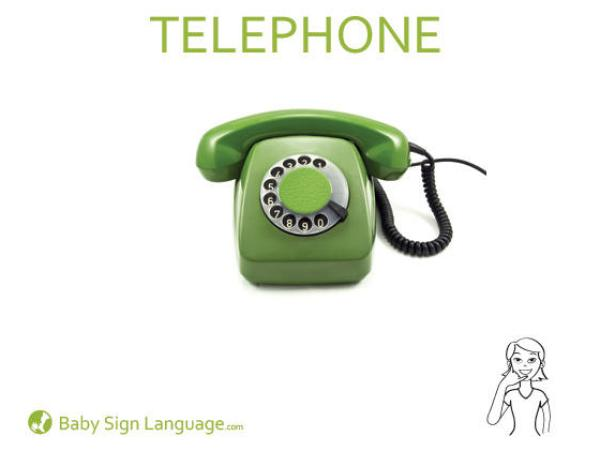 Telephone Baby Sign Language Flash card