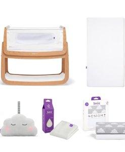 SnuzPod4 Bedside Crib Bundle Natural