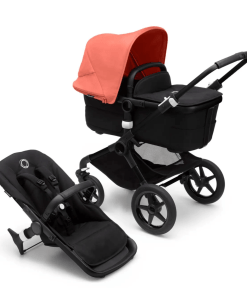 Bugaboo Fox 3 carrycot and pushchair seat - Sunrise Red Black Chassis