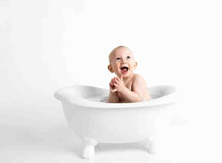 Eine Babywanne macht Spaß