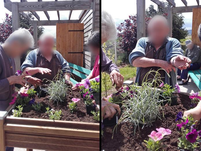 Activité jardinage, Jardinières PMR