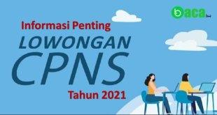 Lowongan CPNS 2021