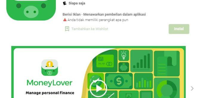 Aplikasi Money Lover