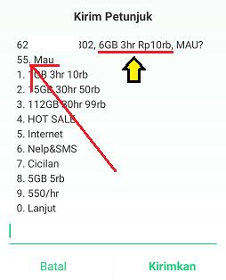 kode paket 3 6gb 10000 terbaru 2020