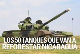 Lo que vos no sabes, es que los 50 tanques son para reforestar Nicaragua (ignorantes)