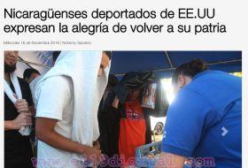 Deportados nicas están felices, según El 19 Digital