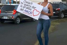 """Así se ve la Chavala de """"Chele! te quiero dar la prueba de amor"""""""