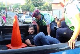 Así terminó el accidente del Mister Nicaragua Austin Canda