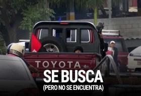 Policía busca Camioneta Roja pero no la encuentra porque casi no hay pruebas