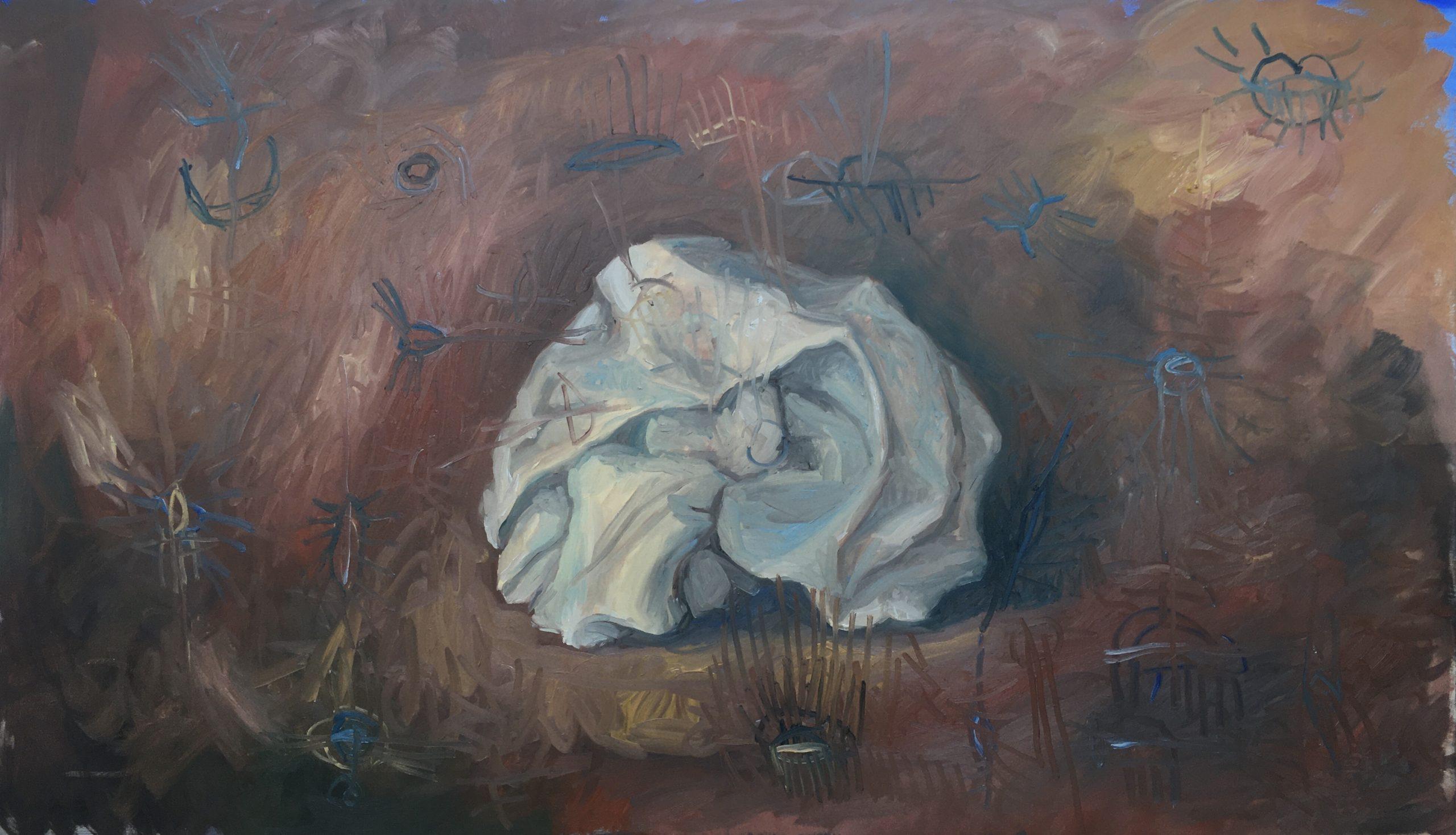 painting dipinto Bacco Artolini Ravenna 2020 Italy
