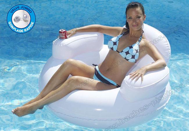 siege piscine hamac gonflable