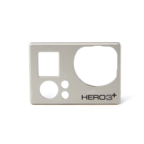 HERO3+ SILVER FACE PLATE