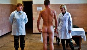 Naked russian soilder