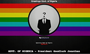ANONYMOUS Nigeria hack