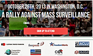 Rally Against Mass Survelliance