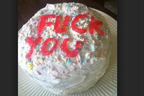 Fuck You cake
