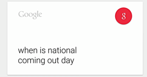Google national coming out day