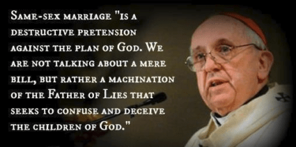 Bi-Polar Pope Francis Applauds Mexico's Anti-Gay Hate Rally