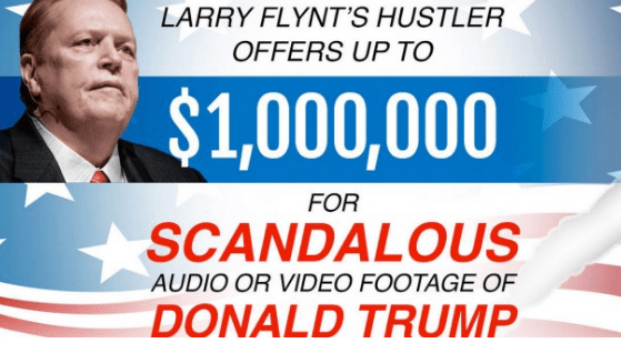 HUSTLER Founder Larry Flynt Offers $1Million Reward For New Trump Tapes