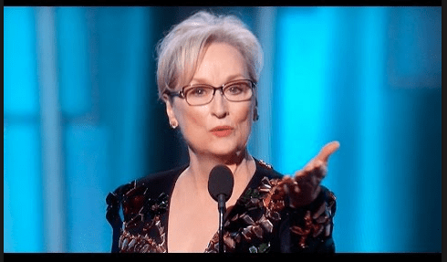 "WATCH: Meryl Streep's Powerful Golden Globe Speech: ""Take your broken heart, make it into art."""