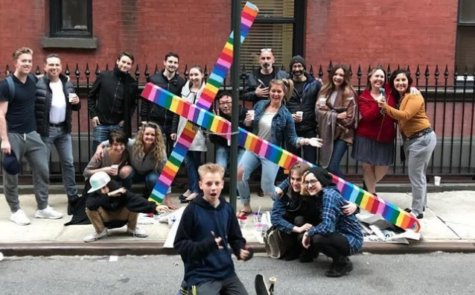 Giant Wooden Cross Chained To Gay Street In NYC As Intolerance Message Is Turned Into Something Beautiful.